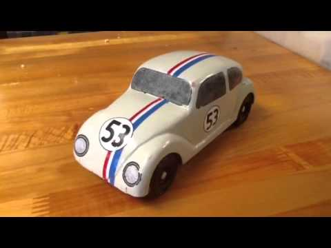 herbie pinewood derby car youtube