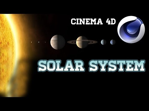 How to make Solar Sysytem in Cinema 4d(Download Free Project file of sloar system C4d)