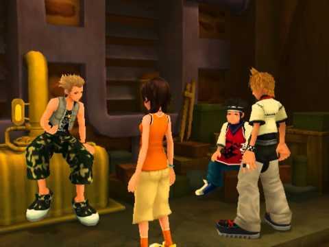 Kingdom Hearts II, English cutscene: 61 - Summer Vacation Homework - HD 720p