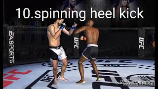 Top 10 best moves on UFC mobile