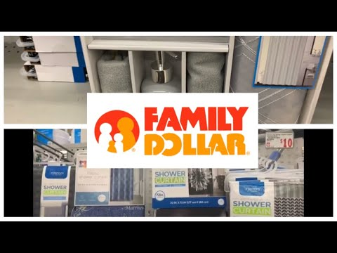 Shop•With•Me! Family Dollar! Curtains,Bathroom Decor,Comfort Sets And More!