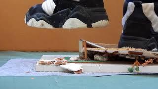 Basketball boots crushing house