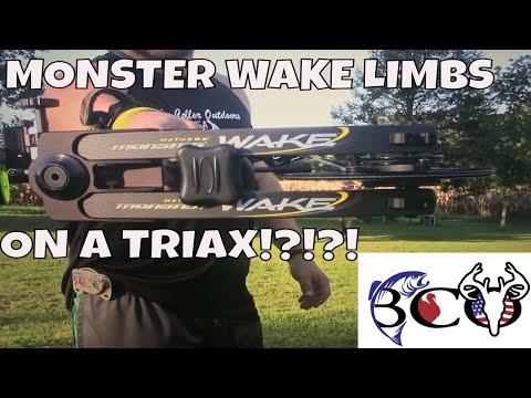 MATHEWS TRIAX ON STEROIDS?!?!? MONSTER WAKE LIMBS ON A TRIAX!!!
