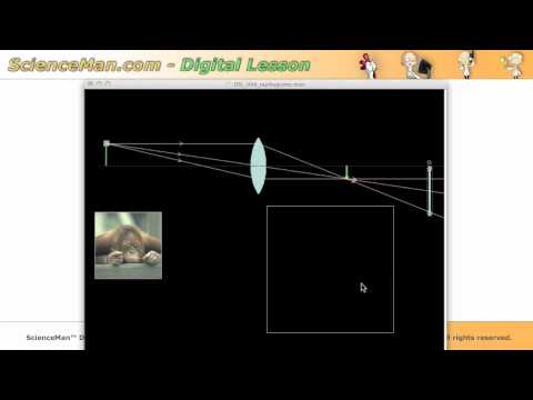 ScienceMan Digital Lesson - Ray Diagrams - Convex and Concave Lenses