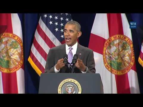 Obama In Miami- Full Speech Defending ObamaCare