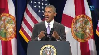 Obama In Miami- Full Speech Defending ObamaCare