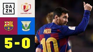Doppelter Messi, Barca erstmals souverän unter Setien: Barcelona - Leganes 5:0 | Copa del Rey | DAZN