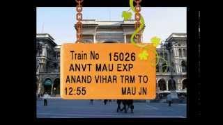 Train No 15026 Train Name ANVTMAU EXP ANANDVIHARTRM GHAZIABAD ALIGARH  KANPURCENTRAL