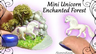 How to: Mini Unicorn Enchanted Forest / Fairy Garden - Polymer Clay Tutorial