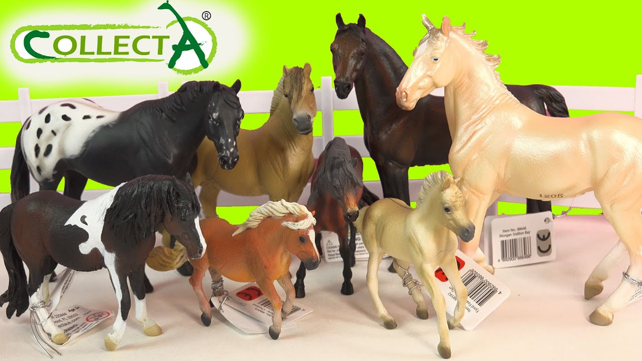 CollectA Horses Mare Foal Pony Stallion Horse Unboxing Review Video ...