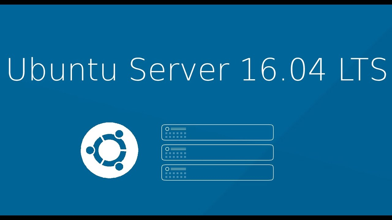 Ubuntu Server 16.04 LTS - fresh install - What's New - YouTube