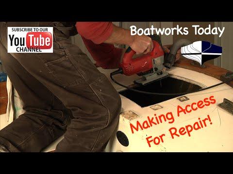Fiberglass Repair On Cape Dory Typhoon