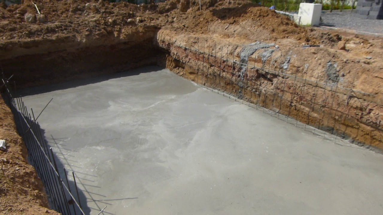 Concrete Slab For Swimming Pool Base In UdonThani At Leeya Resort