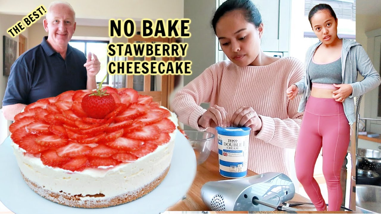 FILIPINA BRITISH LIFE: NO BAKE STRAWBERRY CHEESECAKE! HOMEMADE SARAP