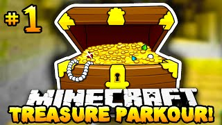 Minecraft - TREASURE HUNT PARKOUR! - Part 1 - w/ Preston & Lachlan