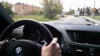 2013 BMW X1 2.0d Test Drive POV, acceleration, engine sound