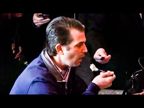 Trump Jr Ignores Hard Question, STUFFS Face With Ice Cream Instead