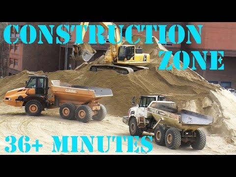 Trucks for Children - Construction Zone 12 - Bulldozers. Dump Trucks. Diggers.