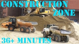 Trucks for Children - Construction Zone 12 - Bulldozers. Dump Trucks. Diggers.