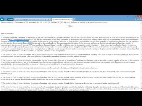 Atlanta SEO Expert Reviews the Ranking Documents Patent