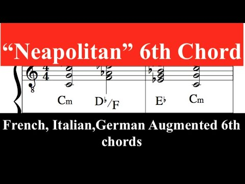 """""""Neapolitan 6th"""" Chord, Augmented sixth, French,Italian and German chords - YouTube"""