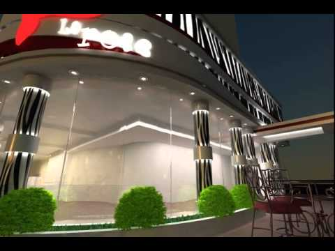 Coffee Shop Exterior Scene 3d Model From Youtube