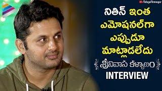 Nithiin EMOTIONAL Words about Srinivasa Kalyanam | Srinivasa Kalyanam Interview | Raashi Khanna
