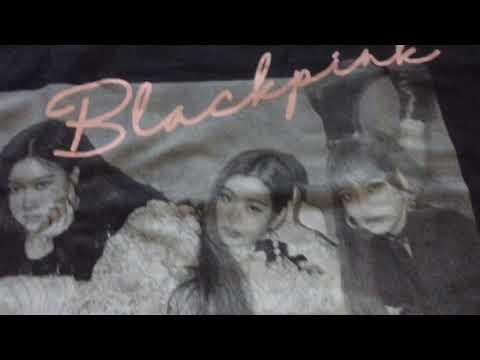f360fe9b Unboxing Blackpink - Square Up T-shirt Type 1 (Black) - YouTube
