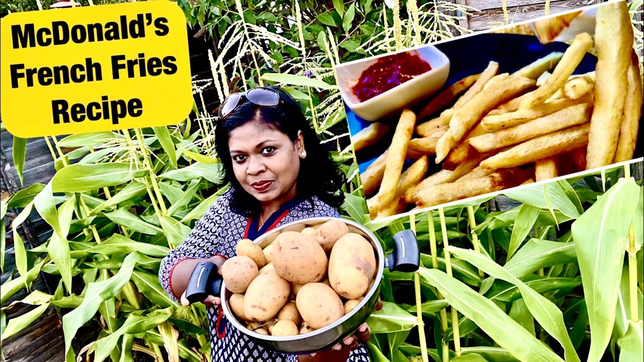 McDonald's French Fries recipe from our garden potatoes/மெக்டோனல்ஸ் சிப்ஸ் செய்வது எப்படி?