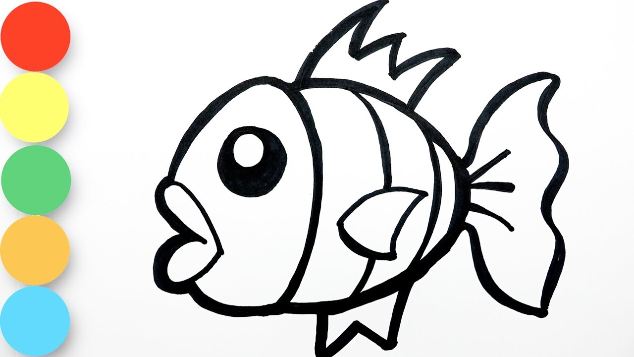 - Easy Coloring Fish - Painting For Toddlers And Drawing For Kids