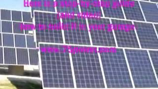 How To Make Cheap Solar Panels In Your Garage