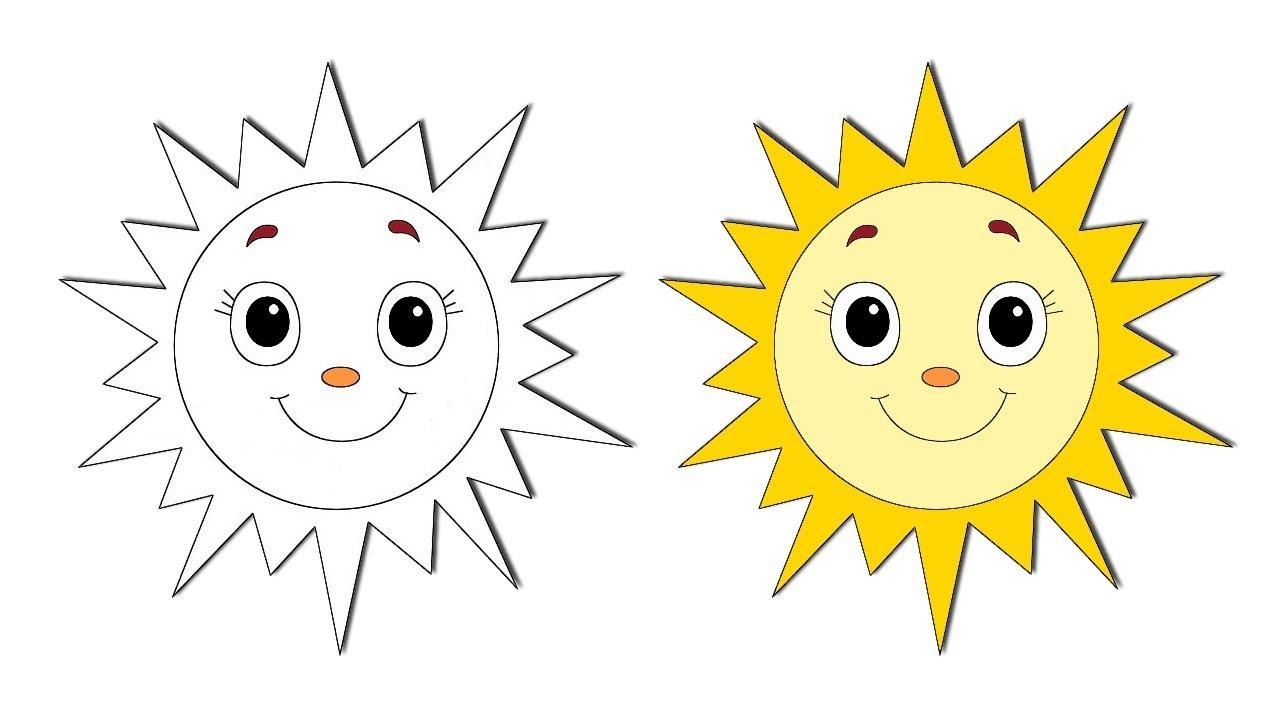 طريقة رسم شمس للاطفال How To Draw Cute Sun Easy And Step By Step