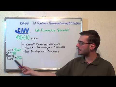1D0-610 – CIW Exam Web Foundations Associate Test Certificate Questions