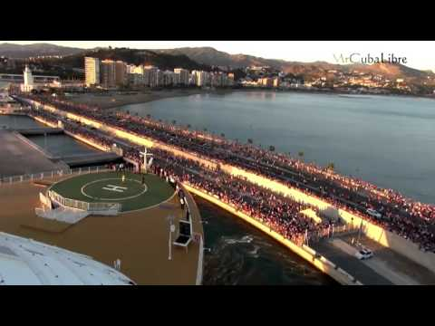 Malaga Port receiving MS Oasis of the Seas