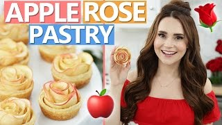 DIY APPLE ROSE PASTRIES!