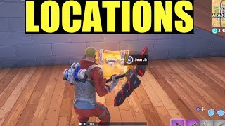 "How to ""Search Chests In Paradise Palms or Shift Shafts"" All Locations - Fortnite Week 5 Season 8"