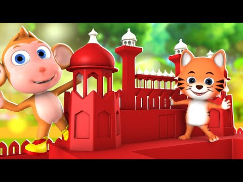 Billi Gayee Dilli Hindi Nursery Rhymes for Kids बिल्ली गयी दिल्ली   3D Animated Hindi Balgeet Poems