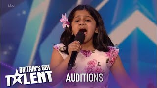 Download Mp3 Souparnika Nair 10 Year Old Sings Never Enough And Blows Everyone Away Britain s Got Talent 2020