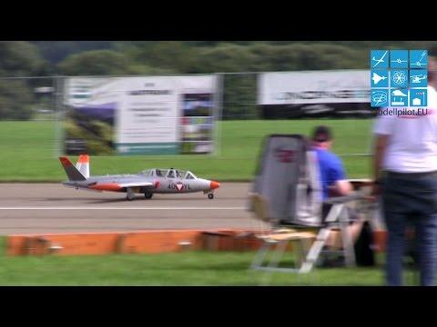 Ewald Zauner Fouga Magister Team Austria - Jet WM 2015 Leutkirch - 1. Wertungsflug 13,5 kg