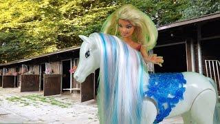 Rodzinka barbie, wyprawa na stadninę koni Bajka po polsku