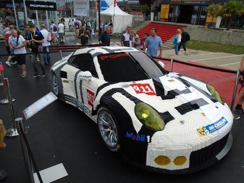 Life Size Car Porsche 911 in Lego