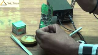 Uses of Soldering Iron on PCB of Mobile (Hindi) (हिन्दी)