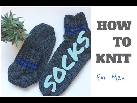 HOW TO KNIT SOCKS | For MEN | TeoMakes