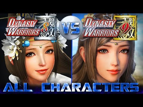 DYNASTY WARRIORS 9 All 80 Characters Revealed So Far Compared to DW8 [Updated] 真・三國無双8
