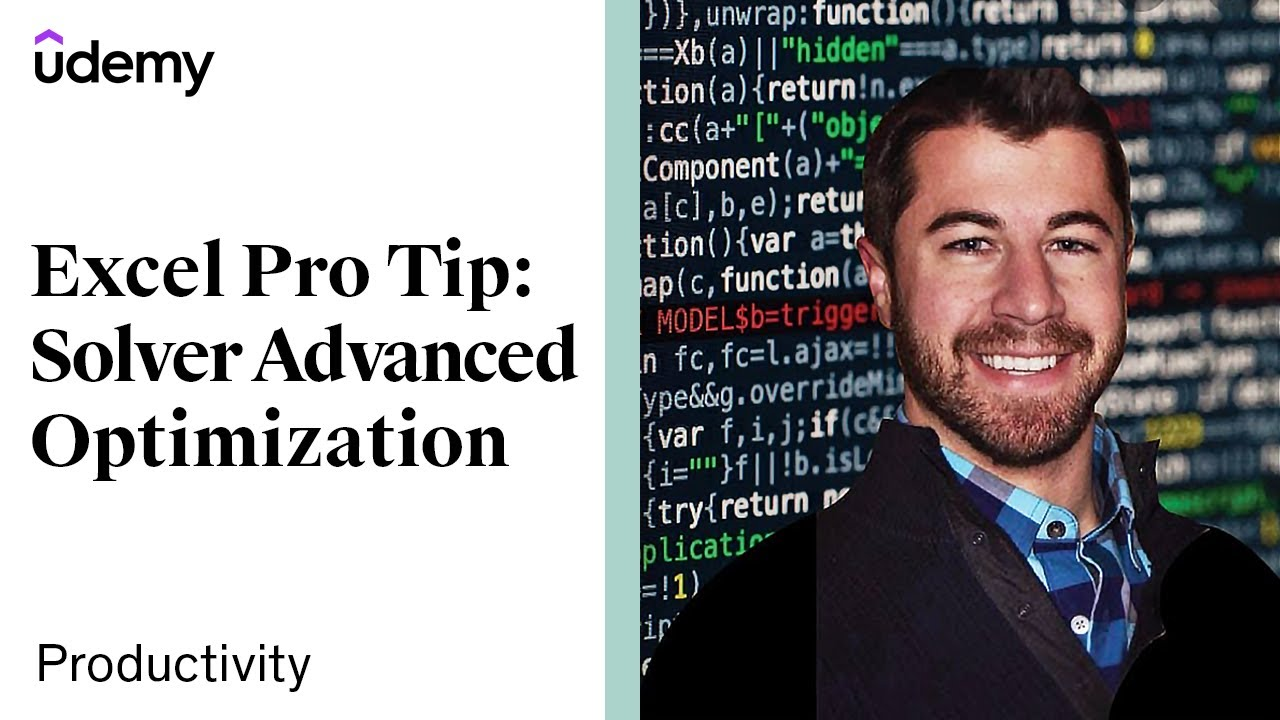 Excel PRO TIP: Advanced Optimization with Solver | Udemy Instructor, Chris Dutton [bestseller]