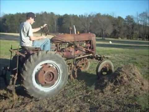 1945 Farmall A Manual Cultivator Operation - YouTube