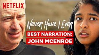 Best Narration From John McEnroe | Never Have I Ever | Netflix