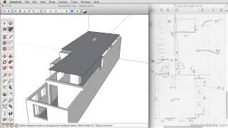SketchUP 2013 Tutorial | Creating The Second Floor