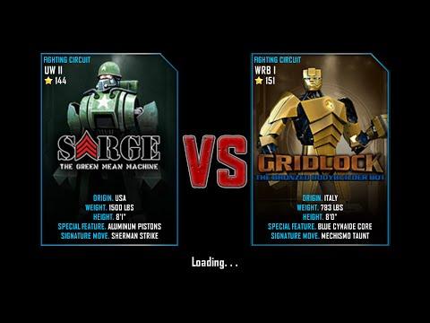Real Steel WRB Free Sparring Sarge VS GridLock