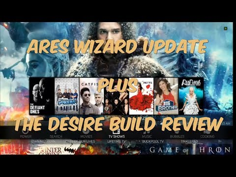 NEW ARES WIZARD INSTALL URL + THE DESIRE BUILD FROM MISFIT MODS TEAM FOR KODI 17.3 KRYPTON AUG 2017